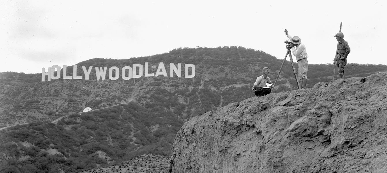 The original Hollywood sign when it said Hollywoodland